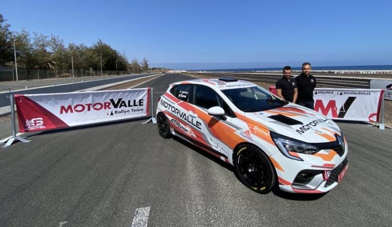 Sergio Fuentes debuta en Gran Canaria con el Renault Clio Rally4