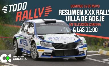 El Rally Villa de Adeje, este domingo a las 11:00 horas en Televisión Canaria